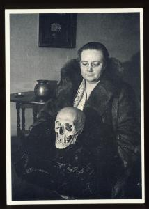 Author Dorothy Leigh Sayers Postcard, Lord Wimsley/Skull