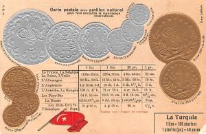 Coin Postcard, Old Vintage Antique La Turquie