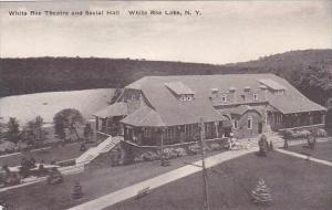 New York White Roe Lake White Roe Theatre &  Social Hall Albertype