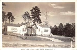 (Spartanburg) Camp Croft South Carolina~Main Post Exchange~1940 RPPC-Postcard