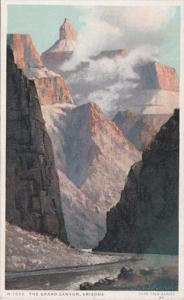 Arizona Grand Canyon At Foot Of Bright Angel Trail Fred Harvey Detroit Publis...