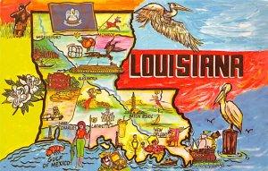Maps Louisiana USA Unused