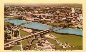 Aerial View Gateway Southwest Shreveport Louisiana Dexter 1940s Postcard 13646