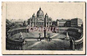 Old Postcard Roma Piazza Pietro Basilica
