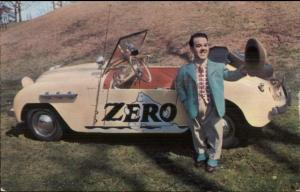 Little People Dwarf ZERO Hollywood Candyman & His Car Old Card/Postcard