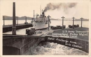 Panama Canal, U.S. Army Transport, Pedro Miguel Lock, Ship, Water discharge