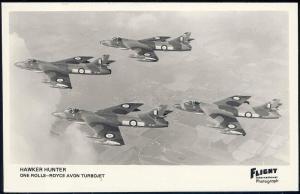 British Jet Aircraft Hawker Hunter, Flight RPPC