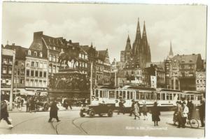 Germany, Koeln, Koln am Rhein, Heumrkt, 1910s-20s unused real photo Postcard