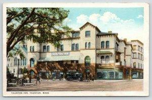 Taunton Massachusetts~Inn Hotel~Office~Florist~Cafeteria~Lunch~Stores~1920s Cars