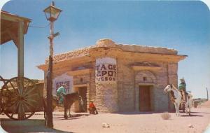 Tucson Arizona~Horses at Stage Depot Tucson~Replica of Old Tucson for Movie 1950