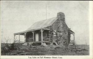 Bristol CT Log Cabin on Fall Mountain c1900 Private Mailing Card
