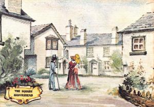 Linen Postcard The Square Hawkshead Old English Series by Colourmaster Int. #H
