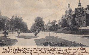 BALTIMORE, Maryland, PU-1906; Broadway & John Hopkin's Hospital