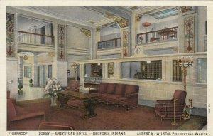 BEDFORD , Indiana, 1930-40s ; Lobby - Greystone Hotel