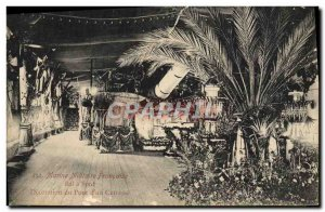 Old Postcard Boat War Navy decoration of the bridge & # 39un armor