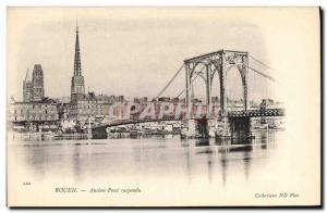 Old Postcard Rouen Old Suspension Bridge