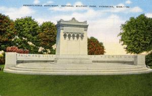 MS - Vicksburg. Vicksburg National Military Park, Pennsylvania Monument