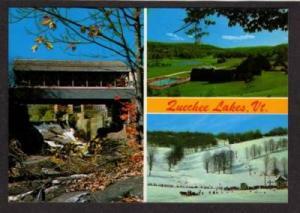 VT Covered Bridge to QUECHEE LAKES VERMONT Postcard PC