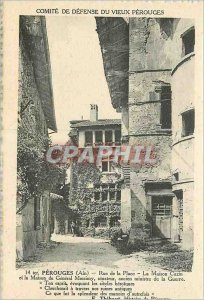 Old Postcard Committee of Defense of the Old perouges Street Square House Cazin