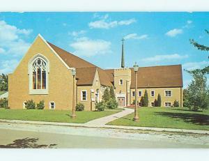 Unused Pre-1980 AUGUSTA LUTHERAN CHURCH Hobart Indiana IN u7025@