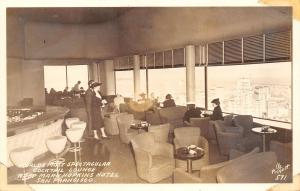 San Francisco CA~Mark Hopkins Hotel~Cocktail Lounge~View City to SE~1940s RPPC
