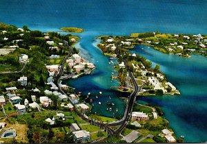 Bermuda Flatt's Village and Inlet Aerial View