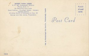 ROSENEATH, Ontario, Canada, 1950-60s; Sunset Farm Lodge, Rice Lake