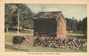 Allen's Amesbury Massachusetts Captains Well C-1910 Postcard hand colored 13296