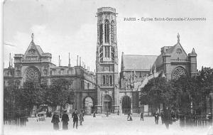 France Paris - Eglise Saint-Germain-l'Auxerrois animee 1908