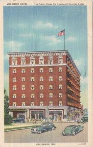 Maryland Salisbury Wicomico Hotel 1942 Curteich sk6317