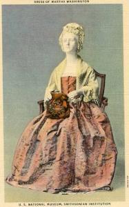 DC - Dress of Martha Washington at Smithsonian Institution