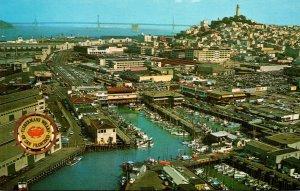 California San Francisco Aerial View Fisherman's Wharf