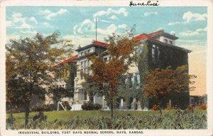 Industrial Building, Fort Hays Normal School, Hays, Kansas, Early Postcard