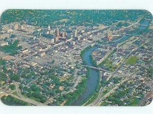 Pre-1980 AERIAL VIEW OF TOWN Lansing Michigan MI AE5751