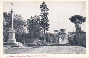 Italy Roma Rome Via Appia e Sepolcro di Cecilia Metella