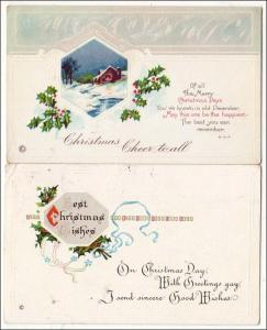 Greeting - 2 Cards, Christmas  *RPO- ??? & Aberdeen RR