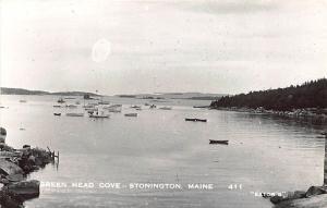Stonington ME Green Head Cove Lobster Boats Postcard