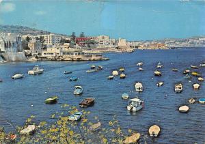 Malta St Pauls' Bay Ship Shape Gillieru Restaurant Boats Panorama