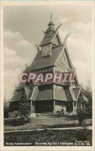 Postcard Old Norks Folkemuseum