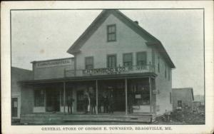Braggville (Sherman Station)? ME General Store George Townsend & Co Postcard