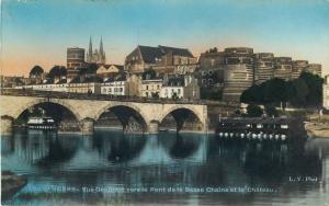 Semi-modern postcard France Angers Pont de la Basse Chaine et le Chateau