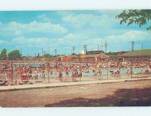 Pre-1980 SWIMMING POOL SCENE Huntington West Virginia WV AF2274