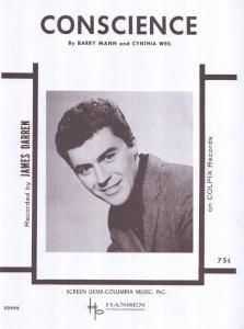 Conscience James Darren 1960s Sheet Music