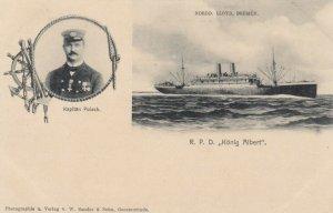 NORDD. LLOYD, Breman Ocean liner R.P.D. Konig Albert & Captain, 1898