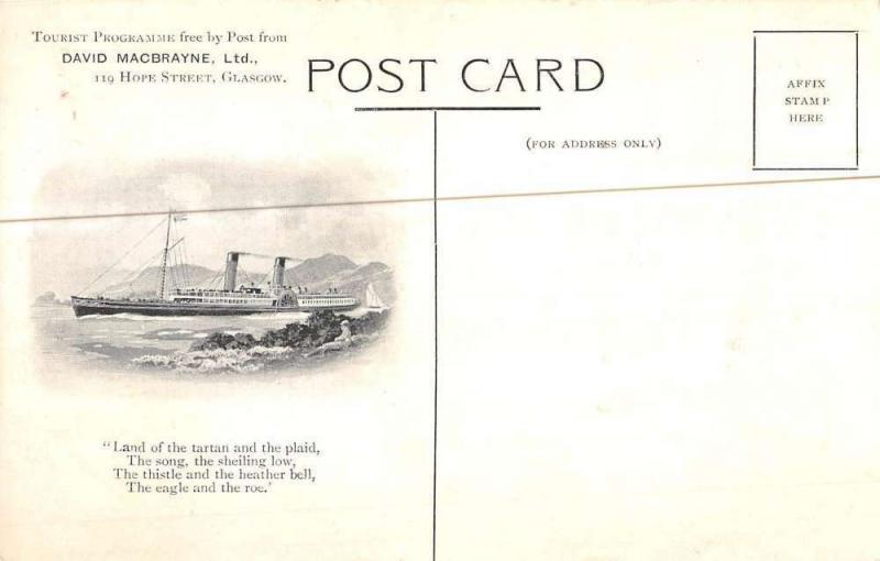 RMS Ship Line Sail Boat Waterfront Multiview Antique Postcard K7876507