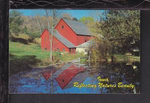Reflecting Nature's Beauty,Barn,IA Postcard BIN