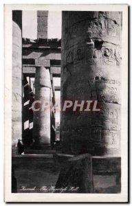 Postcard Ancient Egypt Karnak Egypt The Hippostyle Hall