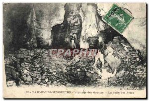 Old Postcard Baume Les Messieurs Interior Caves The room's holiday