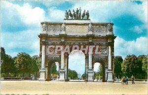 Modern Postcard Paris Arc de Triomphe du Carrousel