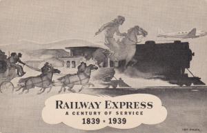 AS: Carl Burgar, RAILWAY EXPRESS, A Century of Service, 1839 - 1939